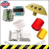 Double réflecteur en plastique rond r3fléchissant de marqueur de route de lumière jaune de sûreté