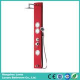 Nuevo panel de la ducha de la aleación de aluminio con el grifo de la cabeza de ducha (LT-L662)