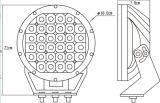 Nouvelle arrivee! ! ! 9inch 111W LED Driving Light hors route Conduite Vs96W / 185W / 225W Lumière de travail LED