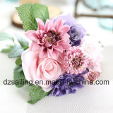 Qualitäts-künstliche Blume des Rosen-und Dahlie-Blumenstrausses (SF15538)