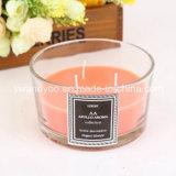 Vela de cristal cuadrada perfumada decorativa del tarro