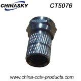 CCTV Verdrehen-auf männlichem Adapter des Koaxialkabel-F (CT5076)