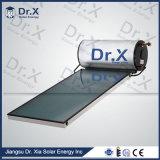Calentador de agua solar a presión vidrio inferior de la pantalla plana del hierro