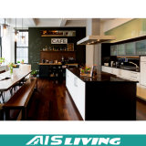 Mobília clássica do gabinete de cozinha da madeira contínua (AIS-K157)
