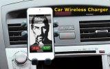 Almofada sem fio do carregador do telefone móvel do carro