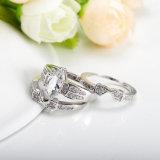 Boucle de mariage de femmes de bagues de fiançailles de cru réglée (CRI0490)