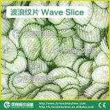 Máquina de corte em cubos de Slicng da onda vegetal de FC-312A