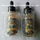 liquide de la bouteille en verre E du crâne 30mll avec le compte-gouttes d'épreuve d'enfant