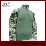 Procès uniforme de grenouille d'Airsoft de chemise uniforme tactique militaire de camouflage