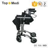 Carro de compra de alumínio Foldable do caminhante de Rollator da inabilidade da parte alta