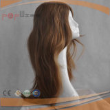 Calidad Humana de alta Yaki Cabello liso Encaje Frente completo del cordón del cordón frontal de la peluca (FLW011)