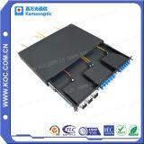 Caixa de distribuição do painel de Opic da fibra de MPO do metal 1u 19 '