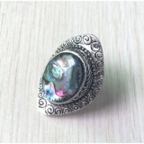 Retro Faux-Shell-Antike-Silber-Ring