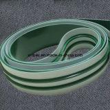 V 가이드 PU/PVC 가공 식품 백색 녹색 Inlined 컨베이어 벨트