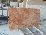 Rosa Tea Marble Slab para bancadas e materiais de construção