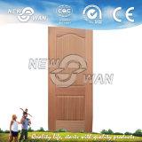 Piel chapeada de madera de la puerta, roble/ceniza/piel de la puerta de la nuez, piel moldeada de la puerta