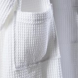 Albornoz blanca del algodón del hotel de la armadura unisex polivinílica de la galleta (WSB-2016008)