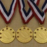 Médaille 2016 de rugby d'or adaptée aux besoins du client par approvisionnement en métal d'usine