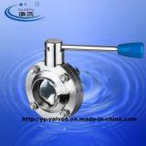 EPDM 버터 플라이 밸브 위생 스테인레스 스틸