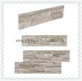 Pierre en bois blanche de culture de nature pour le revêtement de mur
