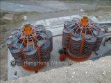 ミネラル砂、鉄、ジルコン、クロム鉱石の分離のためのネジ・シュート