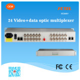 Reverse Data Optical Transceiver를 가진 24의 채널 Video