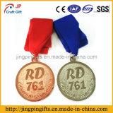 2017 Medaille van de Gravure van de Medaille van de Sporten van het Metaal van het Embleem van de Herinnering van de Douane van de Levering de 2D en 3D met Kleurrijk Lint