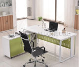 Modernes Büro-Möbel-L-förmiges Teakholz-hölzerner Büro-Schreibtisch (SZ-ODT653)