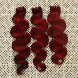 """24 """" capelli di seta di trama del #Pink della chiusura dei capelli diritti dei capelli umani di Non-Remy"""