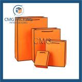 까만 국경 종이 선물 부대 (DM-GPBB-069)를 가진 주황색 색깔