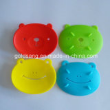 Sostenedores lindos del jabón del silicón de la forma de la rana del nuevo diseño de la manera