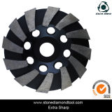 Wave Turbo Diamond Grinding Cup Wheel pour Stone