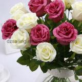 Flor artificial de la boda de la PU Rose para la decoración (SW01503)