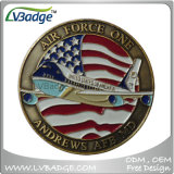 Metal Military Challenge Coin with Enamel Color
