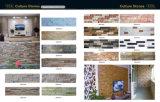 Weißer Quarzit-/Schiefer-Kultur-Stein für Wand-Fassade-Fliesen
