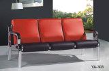 Sofà moderno del cuoio di ricezione dell'hotel della mobilia del salone di ufficio del sofà squisito blu delle forniture