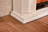 Cheminée électrique de chaufferette en bois blanche européenne simple avec du ce (332)