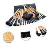 el conjunto de cepillos profesional del maquillaje 24PCS compone el kit del cepillo de pelo del caballo de las herramientas del cosmético con el bolso