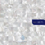 Bijoux White Square Matériau de la mosaïque de coquillage naturel