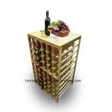 Estante de madera del vino de 2 capas para el estante casero del vino de los muebles
