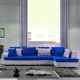 Sofá de couro real usado HOME de venda quente para a sala de visitas (UL-NS366)
