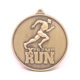 médaille courante de marathon antique de cuivre du type 3D
