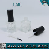 verre à bouteilles clair cosmétique de vernis à ongles 12ml avec le balai