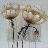 Wand-Kunst-handgemaltes modernes Blumen-Ölgemälde auf Segeltuch