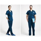 La protection élevée uniforme médicale d'usure médicale de chirurgie frottent de 100%Cotton