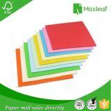 Papel colorido de la talla de la carta para el papel 100% del color de la pasta de madera de la impresión de la oficina