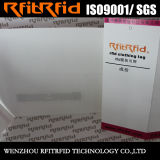 Tag RFID de papier lustré de tag RFID d'impression de couleur de fréquence ultra-haute pour le tissu