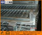 Cestino d'impilamento pieghevole galvanizzato della rete metallica