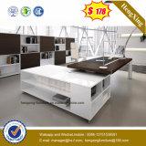 Высокая глянцуя офисная мебель ноги металла стола управленческого офиса (NS-ND152)