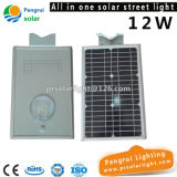 El panel solar ahorro de energía LED Powered Sensor de pared exterior de 12W LED luz de calle